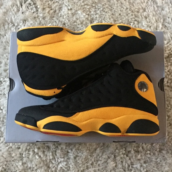 the latest 4ccb6 59e09 Air Jordan XIII Melo 414571-035 Yellow 10.5 13